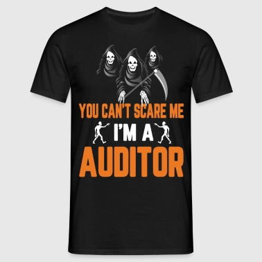 You Cant Scare Me Im Auditor Halloween - Men's T-Shirt