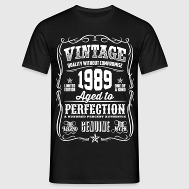 1989 Aged to Perfection White print - Men's T-Shirt