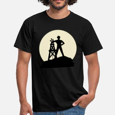 Driller Amazing Driller And Moon Design - Men's T-Shirt