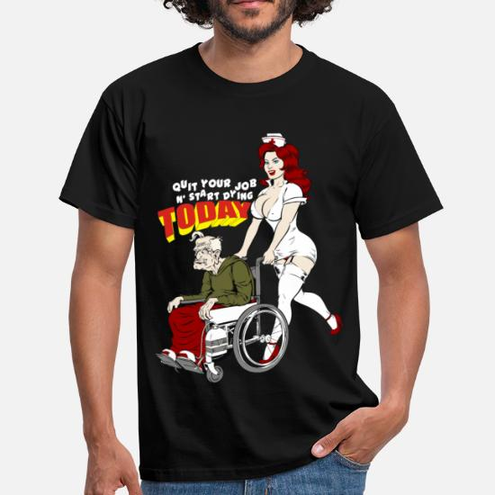 d984a86252f4 Nurse And The Playboy Old Man Men's T-Shirt   Spreadshirt