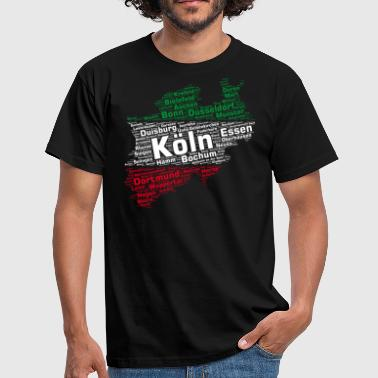 North Rhine-Westphalia State: NRW Cities - Men's T-Shirt