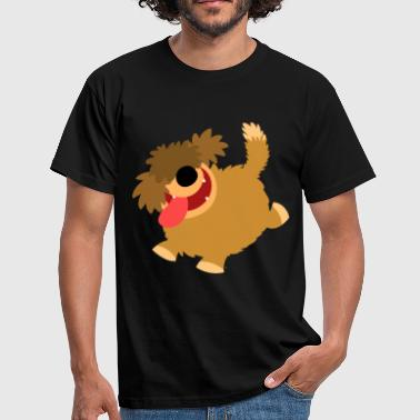Big Hairy Cartoon Dog by Cheerful Madness!! - Men's T-Shirt