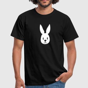 bunny hase gesicht häschen rabbit - Men's T-Shirt