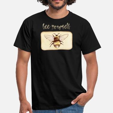 Been Bee Yourself bijenminnaar idee - Mannen T-shirt