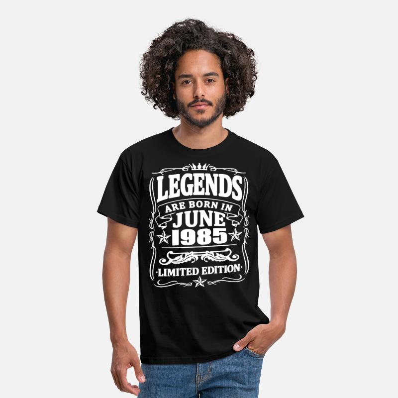 Established T-Shirts - Legends are born in june 1985 - Men's T-Shirt black