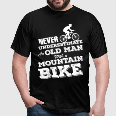 Old Man With Mountainbike - Männer T-Shirt
