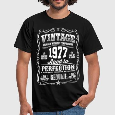 1977 Aged to Perfection White print - Men's T-Shirt