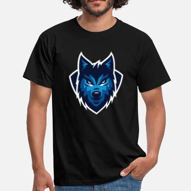 Wolf cartoon - Mannen T-shirt