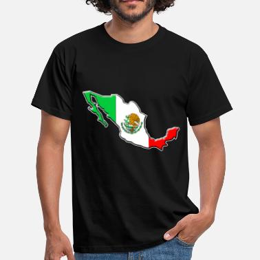 Monterrey Mexico flag map - Men's T-Shirt