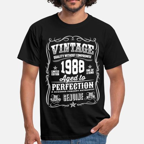 1988 Vintage 30th Birthday Gift 30 Years Old Mens T Shirt