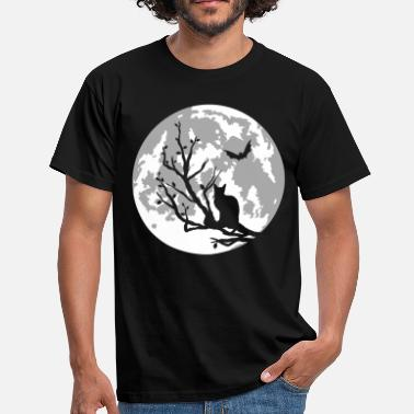 Cat Moon cat on moon - Men's T-Shirt