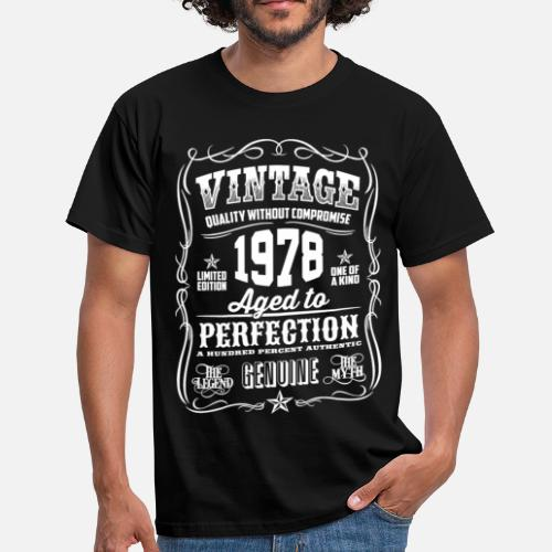 Mens T Shirt1978 Vintage 40th Birthday Gift 40 Years Old
