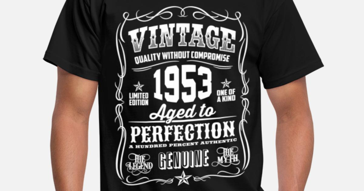 1953 Vintage 65th Birthday Gift 65 Years Old Mens T Shirt