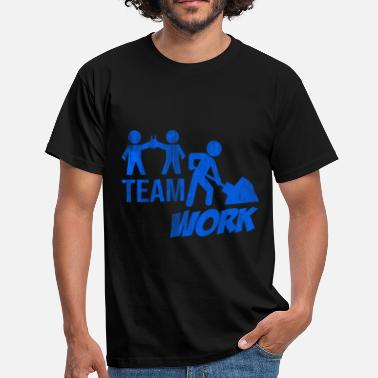Construction Site Construction worker construction site teamwork - Men's T-Shirt