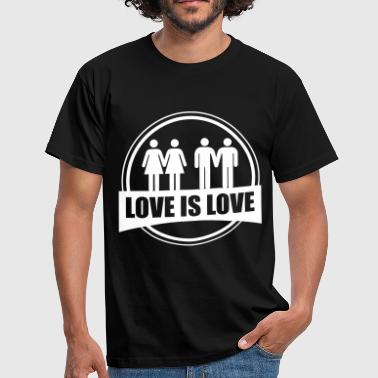 LOVE IS LOVE GAY LESBIAN - Herre-T-shirt
