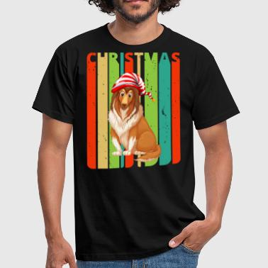 Retro Christmas Gifts for family & friends. Dog - Men's T-Shirt