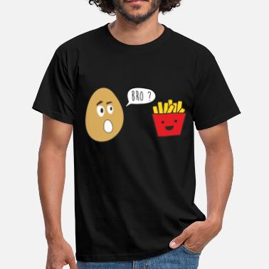 French Jokes bro french fries - funny, joke brother - Men's T-Shirt