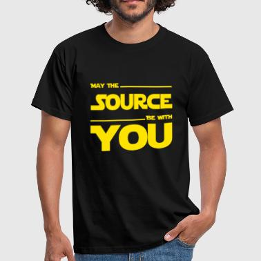 May Source Be With You für Programmierer - Männer T-Shirt