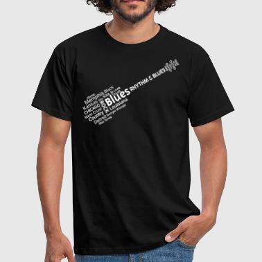 Südstaaten Musik Blues tag cloud - Männer T-Shirt