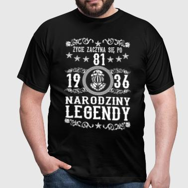 1936 - 81 lat - Legendy - 2017 - PL - T-shirt Homme