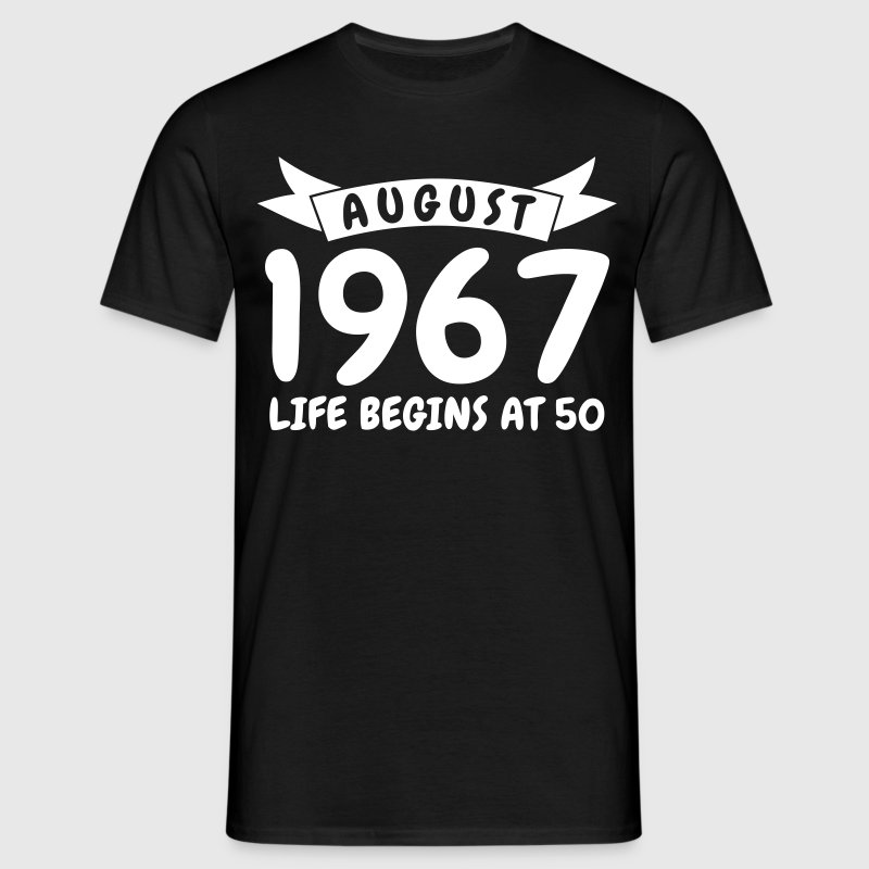 August 1967 - Mannen T-shirt