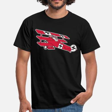 Roter Baron Fokker Airplane Flugzeug Roter Baron Red World War - Männer T-Shirt