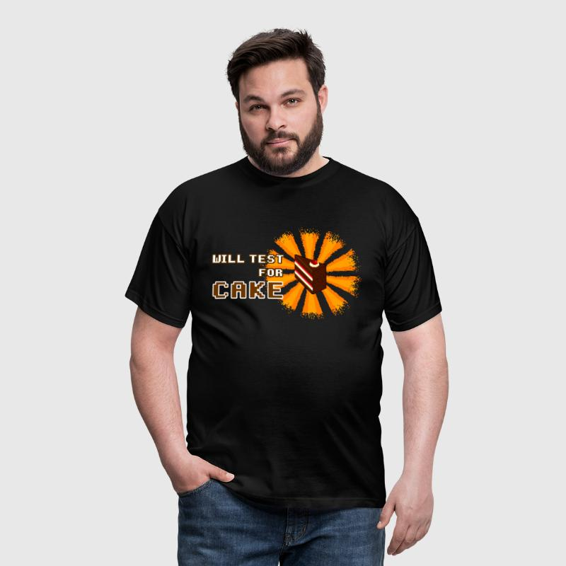 will test for cake - Männer T-Shirt