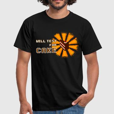 will test for cake - Camiseta hombre