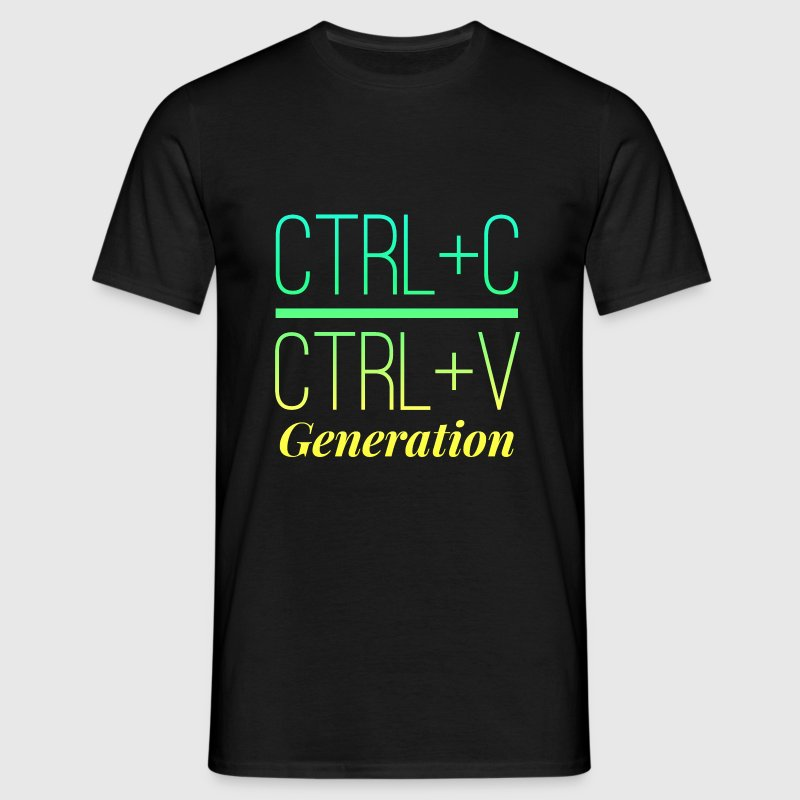 Luminous Bright Ctrl C, Ctrl V Generation Design - Men's T-Shirt