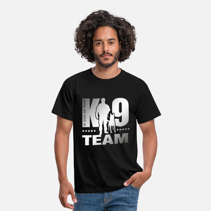 Unit T-Shirts - K-9 Team - K9 Unit - Malinois - Men's T-Shirt black