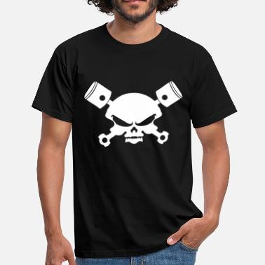 Skull Piston skull, skull skull and piston - Men's T-Shirt