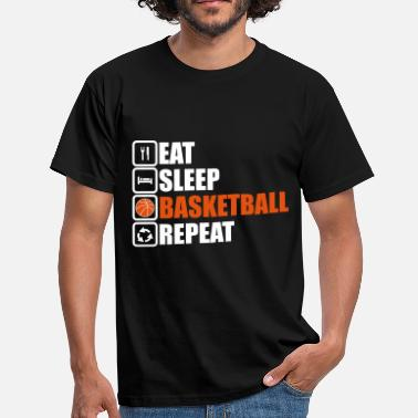 eat sleep basketball - Herre-T-shirt
