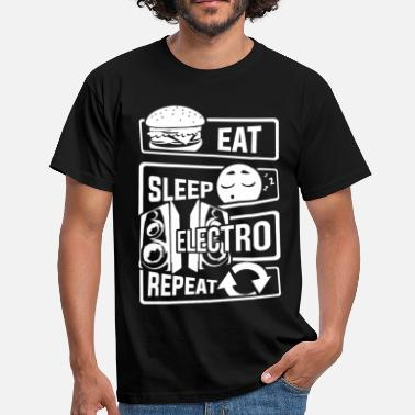 Pure Beat Eat Sleep Electro Repeat - Party Festival Music - Men's T-Shirt