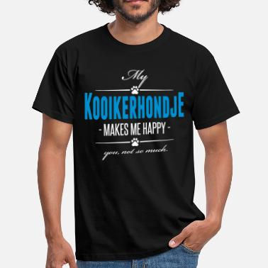 Rassehund My Kooikerhondje makes me happy - Männer T-Shirt