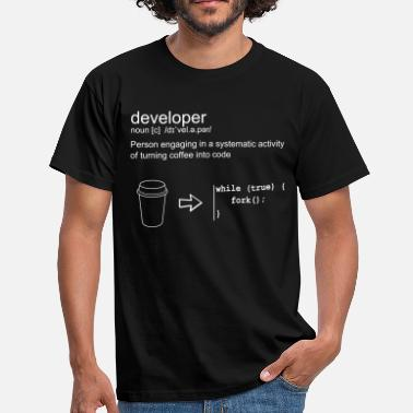 Linux Developer & coffee - T-shirt Homme