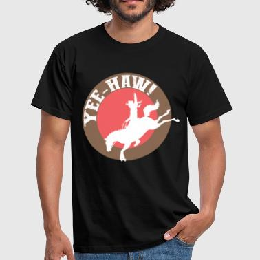 Vaquero occidental, occidental, equitación, caballo occidental - Camiseta hombre