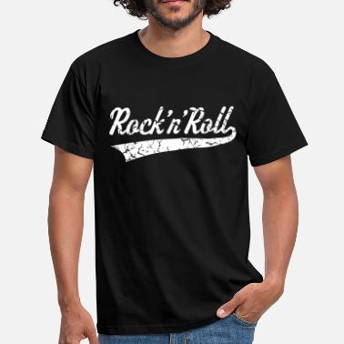Rock 'n' Roll, Rock And Roll, Rock & Roll, Vintage - T-shirt Homme
