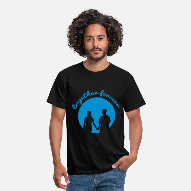 Forever T-Shirts - together forever - Mannen T-shirt zwart