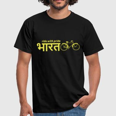 India: Ride with Pride Bike - Men's T-Shirt