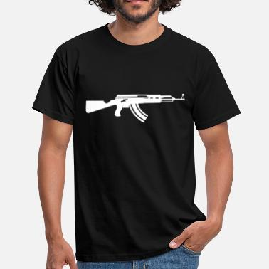 47 ak47 outline vector of the famous assault rifle - Men's T-Shirt