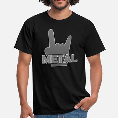 Metal Sign Metal - Männer T-Shirt