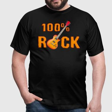 100_rock_guitars_red_ok - Mannen T-shirt