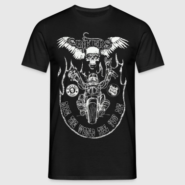 chopper man fond trans - T-shirt Homme