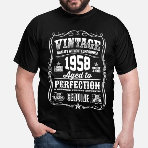 1958 Vintage 60th Birthday Gift 60 Years Old Mens T Shirt