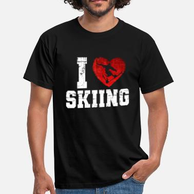 I love skiing - Men's T-Shirt