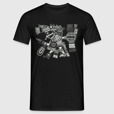 Maya God, Mexico, Warrior, DD - Men's T-Shirt