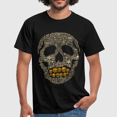 Bling Bling The Golden Skull - Men's T-Shirt