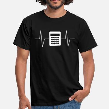 Miniräknare Cool Accountant Calculator Heartbeat EKG T-shirt - T-shirt herr