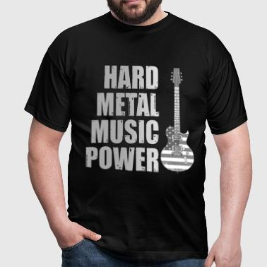 hard metal music power - T-shirt Homme