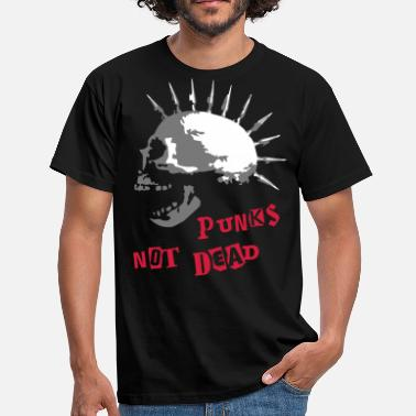 Punk Rock spike_skull_b_3c - T-shirt Homme